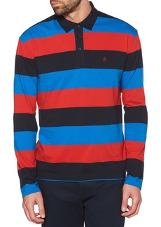 Original Penguin Rugby Stripe Long Sleeve Polo