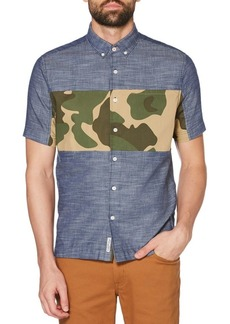 Original Penguin Short-Sleee Twill Button-Down Shirt