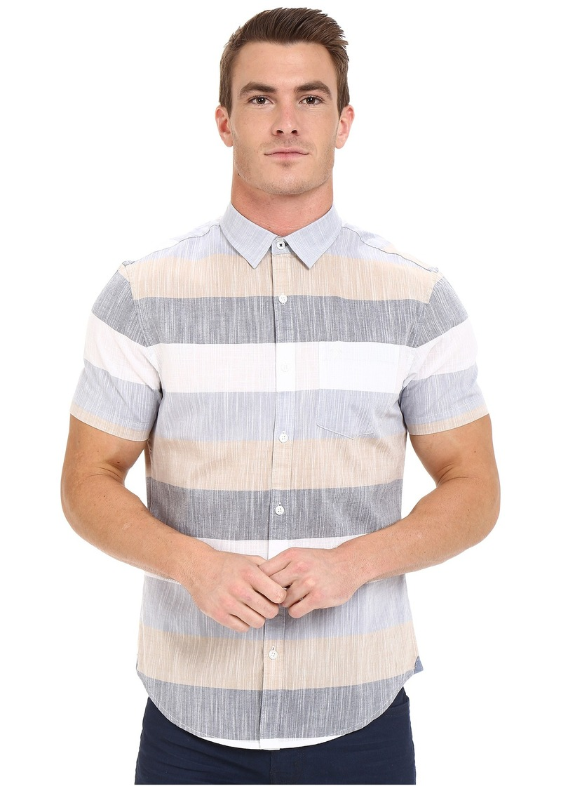 Original Penguin Short Sleeve Bold Horizontal Stripe Chambray