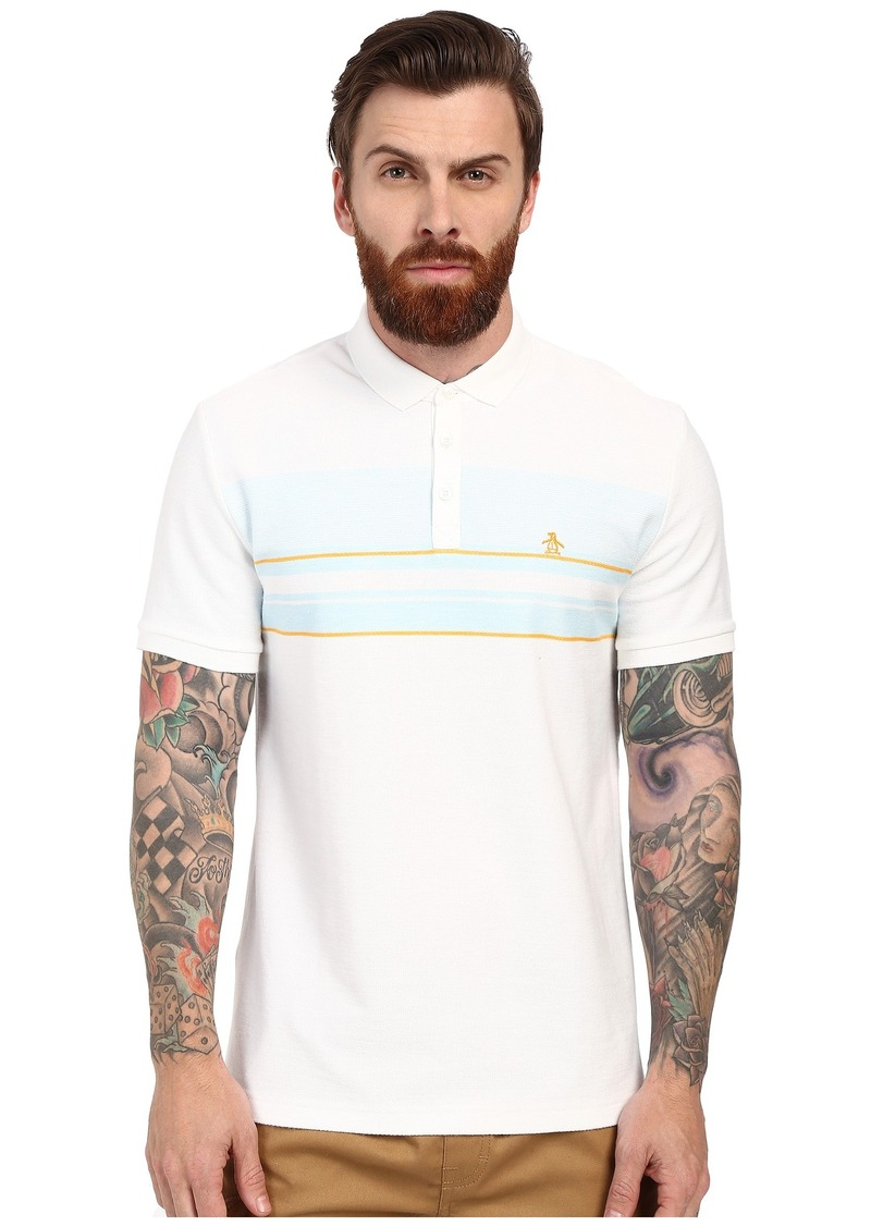 Original Penguin Short Sleeve Engineered Terry Stripe Polo