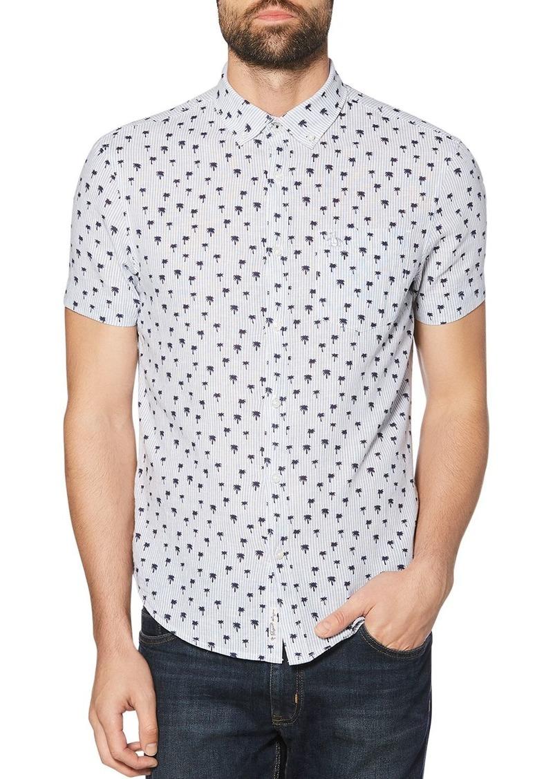 Original Penguin Short-Sleeve Palm Tree-Print Regular Fit Button-Down Shirt