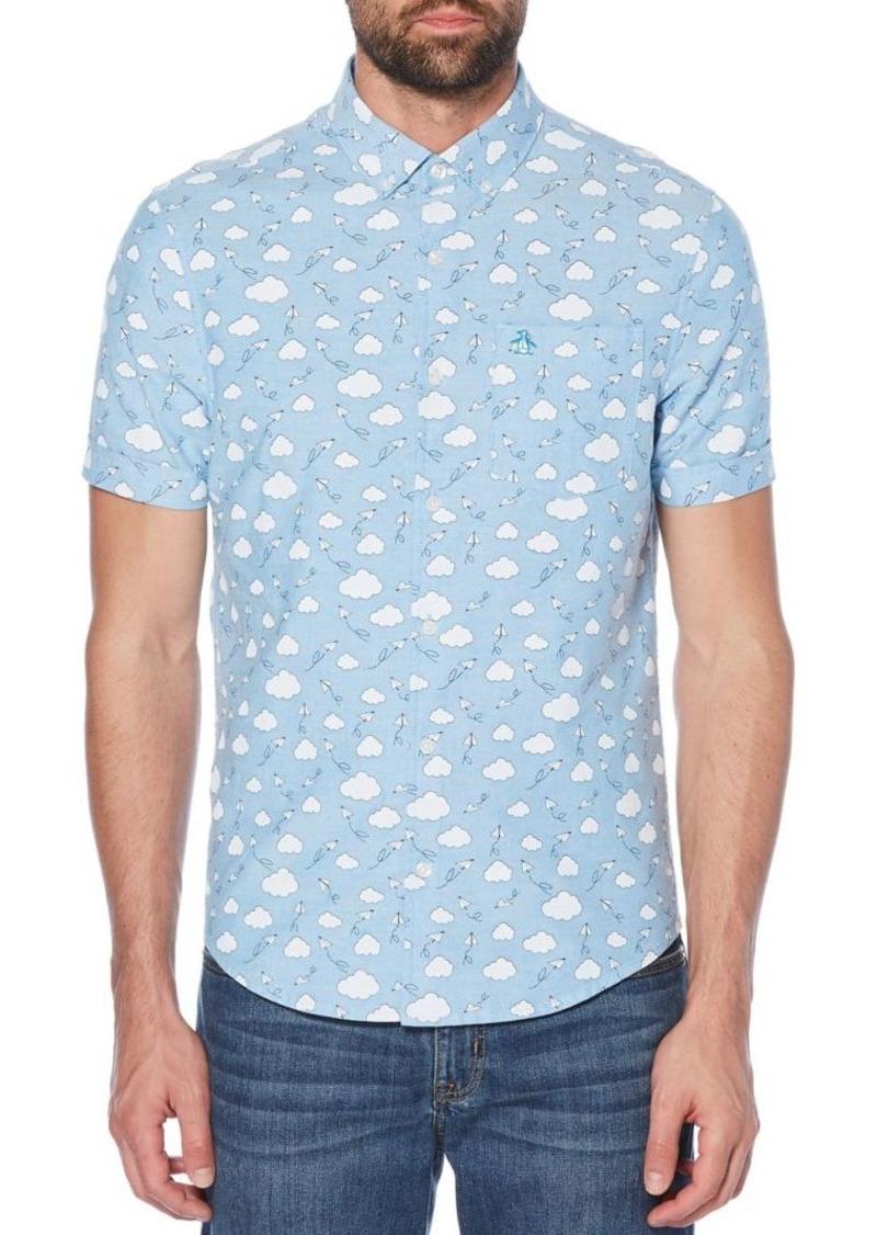 Original Penguin Slim-Fit Cloud-Print Shirt