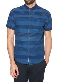 Original Penguin Slim Fit Dobby Striped Sport Shirt