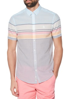 Original Penguin Slim Fit Engineered Stripe Woven Shirt