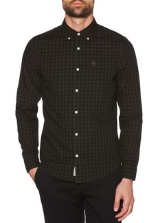Original Penguin Slim Fit Neppy Gingham Sport Shirt