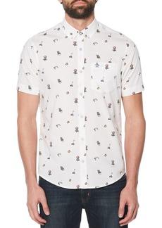 Original Penguin Slim-Fit Printed Shirt