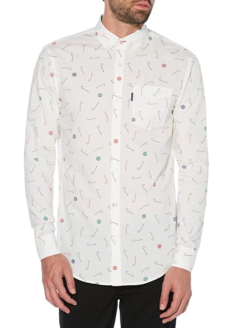 Original Penguin Slim-Fit Printed Long-Sleeve Shirt