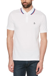 Original Penguin Slim Fit Tipped Bird's Eye Piqué Polo