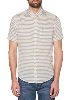 Original Penguin Slub Lawn Stripe Shirt