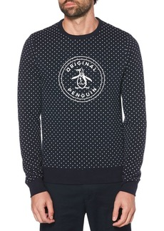 Original Penguin Star Print Logo Long Sleeve Sweatshirt