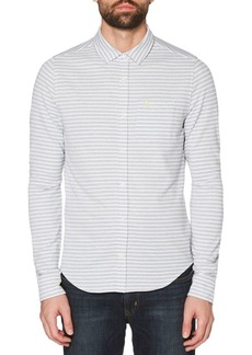 Original Penguin Stripe Knitted Twill Shirt