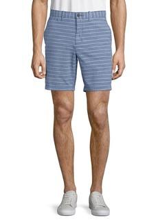Original Penguin Striped Cotton Shorts