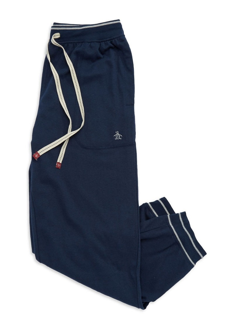 ORIGINAL PENGUIN Striped Cuff Sweatpants