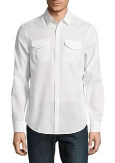 Original Penguin Textured Cotton Utility Shirt
