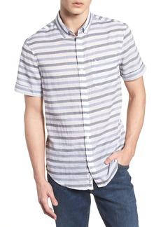 Original Penguin Textured Lawn Stripe Shirt