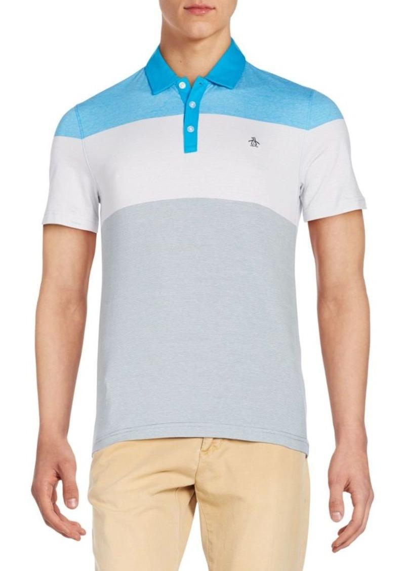Original Penguin Three-Stripe Cotton Polo Shirt