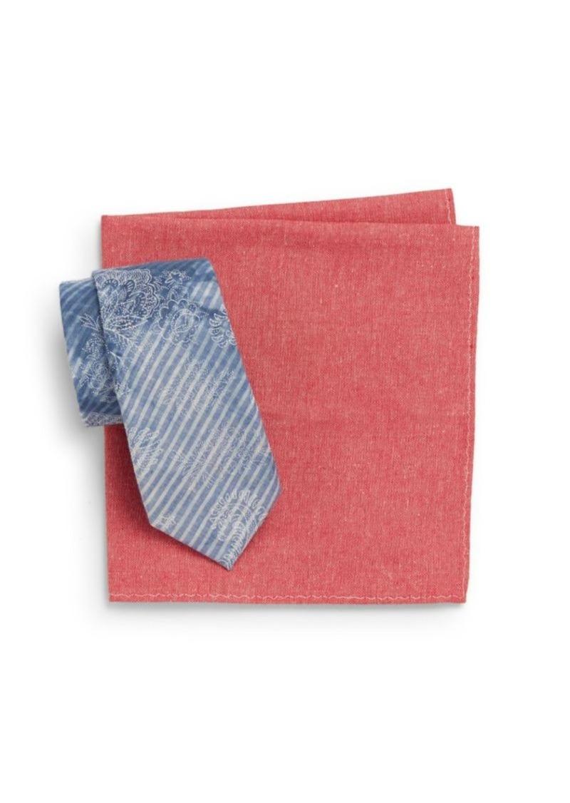 Original Penguin Tie & Pocket Square Gift Set