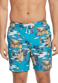 Original Penguin Tiki Print Swim Shorts