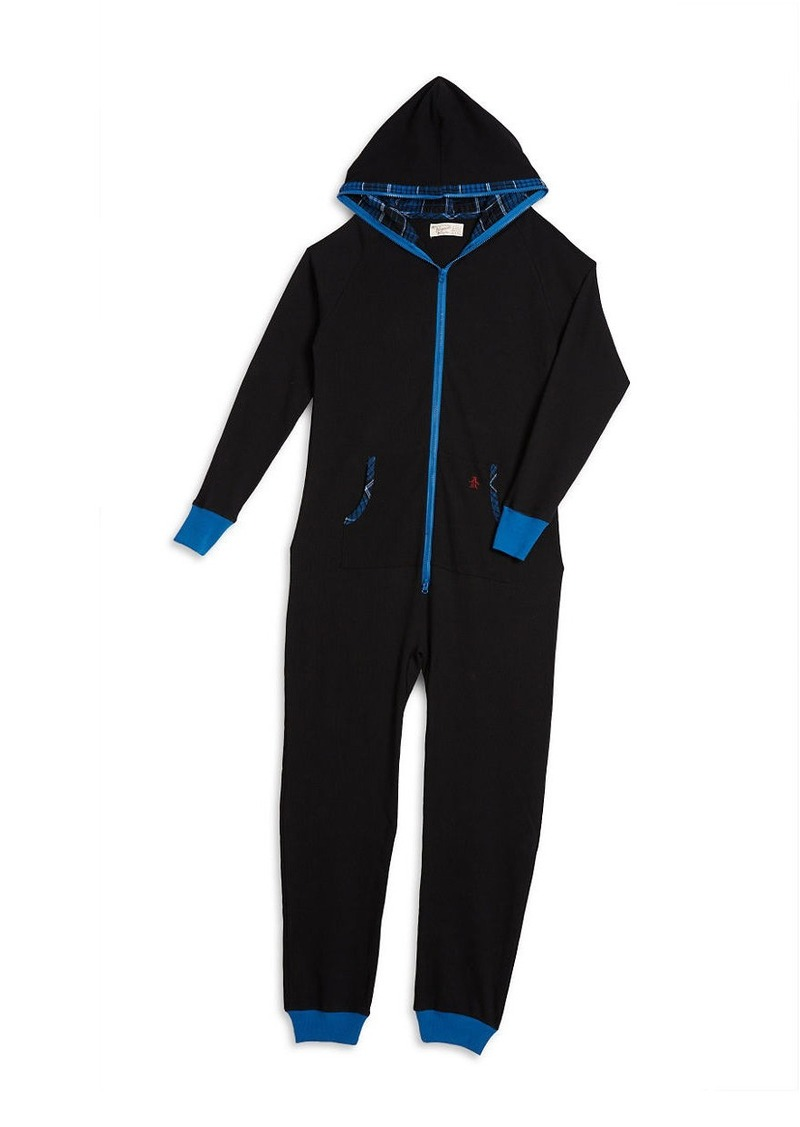 ORIGINAL PENGUIN Waffle Knit Sleep Suit