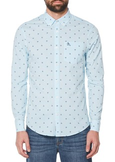 Original Penguin Palm Print Gingham Shirt