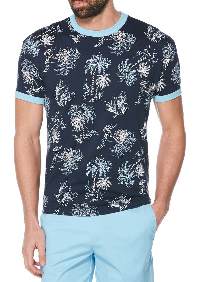 Original Penguin Palm Print Ringer T-Shirt