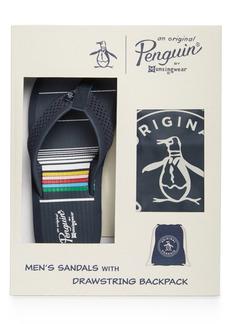 Original Penguin Penguin Men's Flip Flops & Cinch Bag Set, Created for Macy's