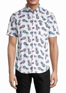 Original Penguin Pineapple-Print Cotton Shirt