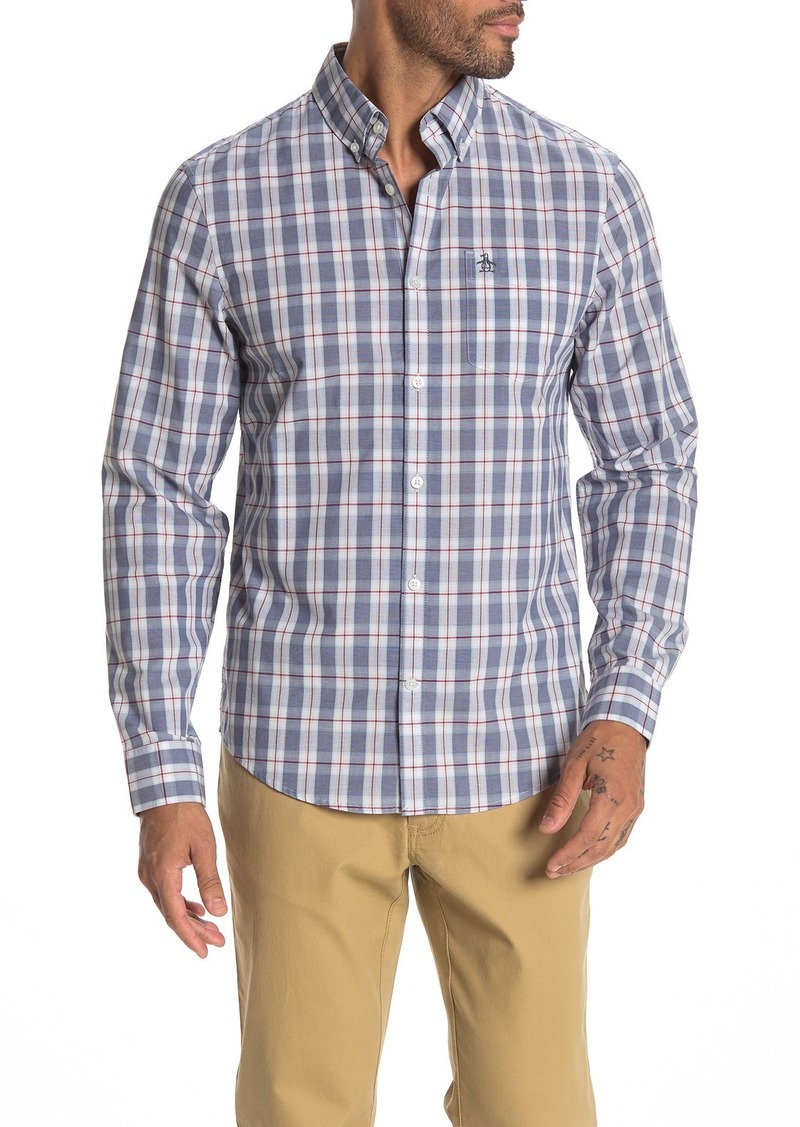 Original Penguin Plaid Heritage Slim Fit Shirt