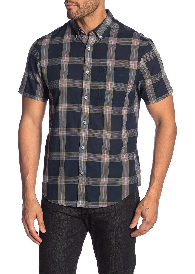 Original Penguin Plaid Short Sleeve Heritage Slim Fit Shirt