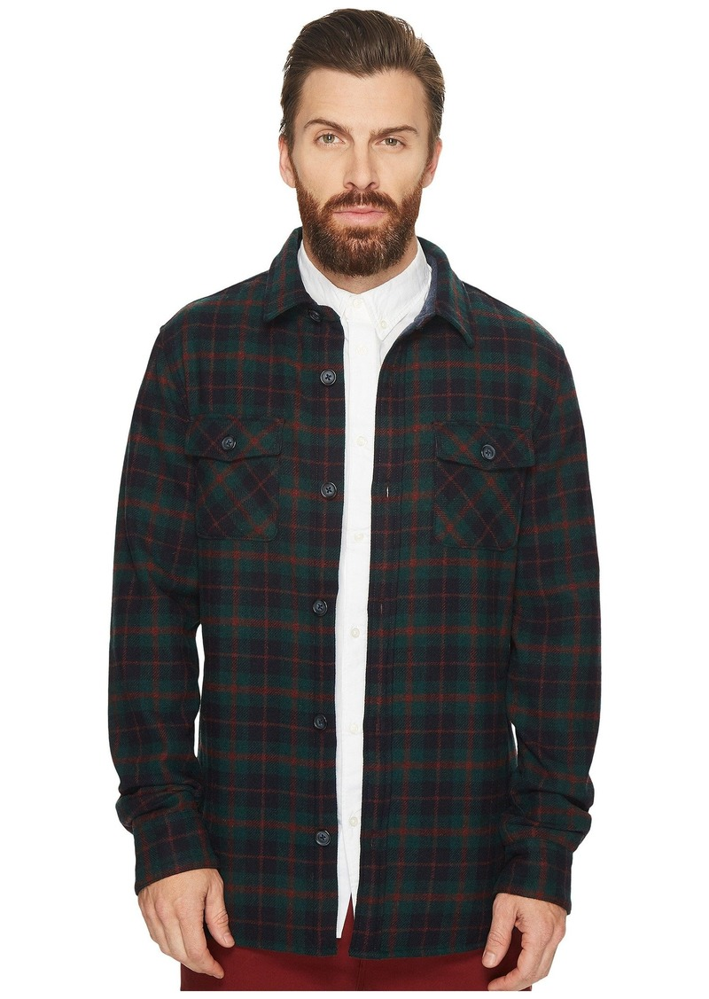 Original Penguin Plaid Wool Blend Unlined Jacket