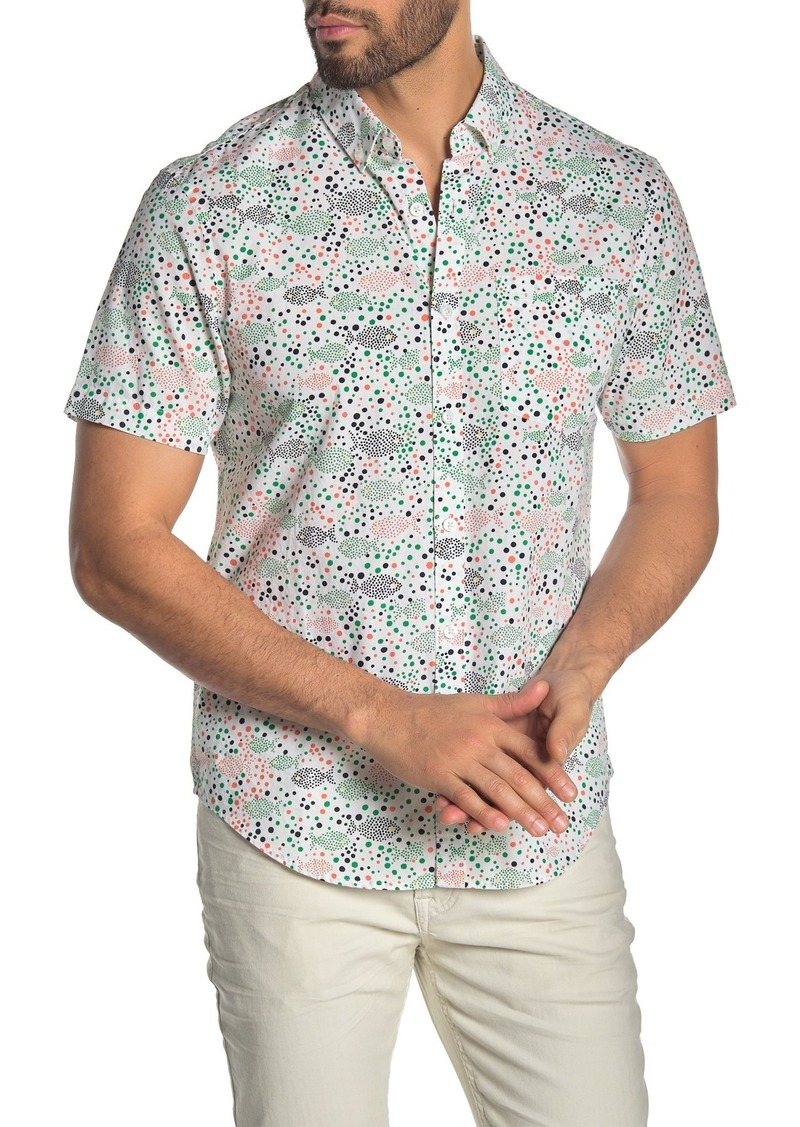 Original Penguin Printed Button Down Slim Fit Shirt