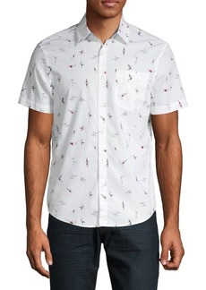Original Penguin Printed Short-Sleeve Button-Down Shirt