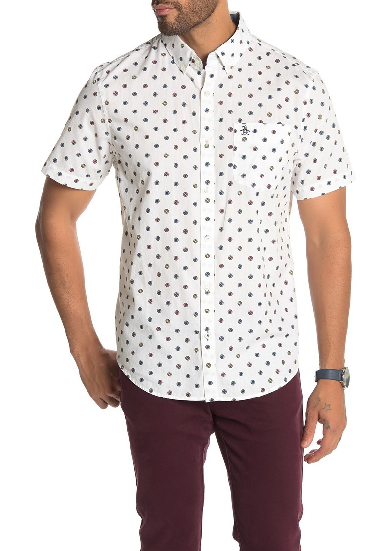 Original Penguin Printed Short Sleeve Slim Fit Shirt