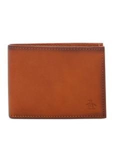 Original Penguin RFID Slim Bifold Leather Wallet
