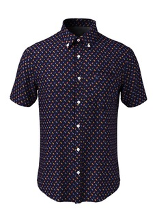 Original Penguin Seashell Print Short Sleeve Heritage Fit Shirt
