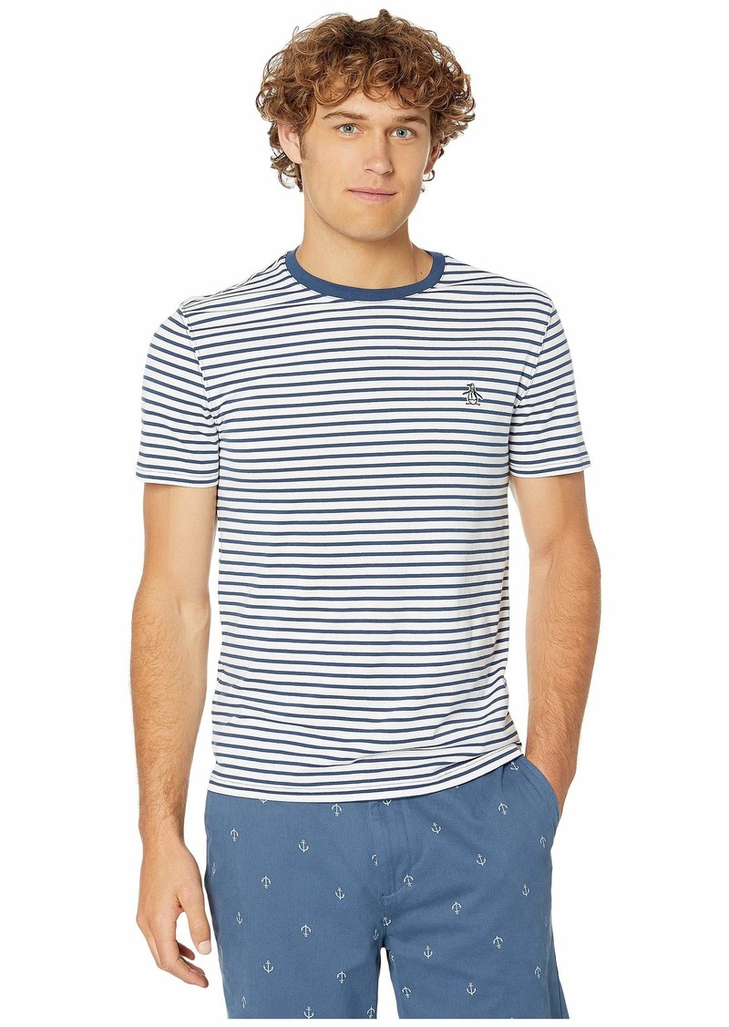 Original Penguin Short Sleeve Auto Stripe Tee