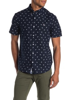 Original Penguin Short Sleeve Slim Fit Bike Print Button Front Shirt