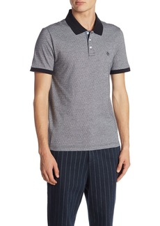 Original Penguin Short Sleeve Birdseye Dobby Jacquard Polo