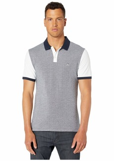 Original Penguin Short Sleeve Color Block Birdseye Polo