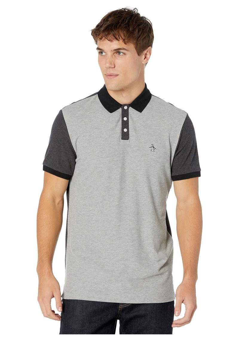 Original Penguin Short Sleeve Color Block Pique