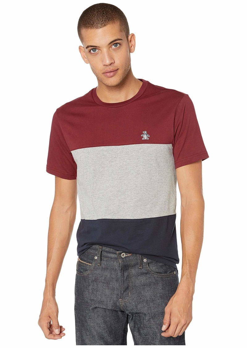 Original Penguin Short Sleeve Color Block Tee