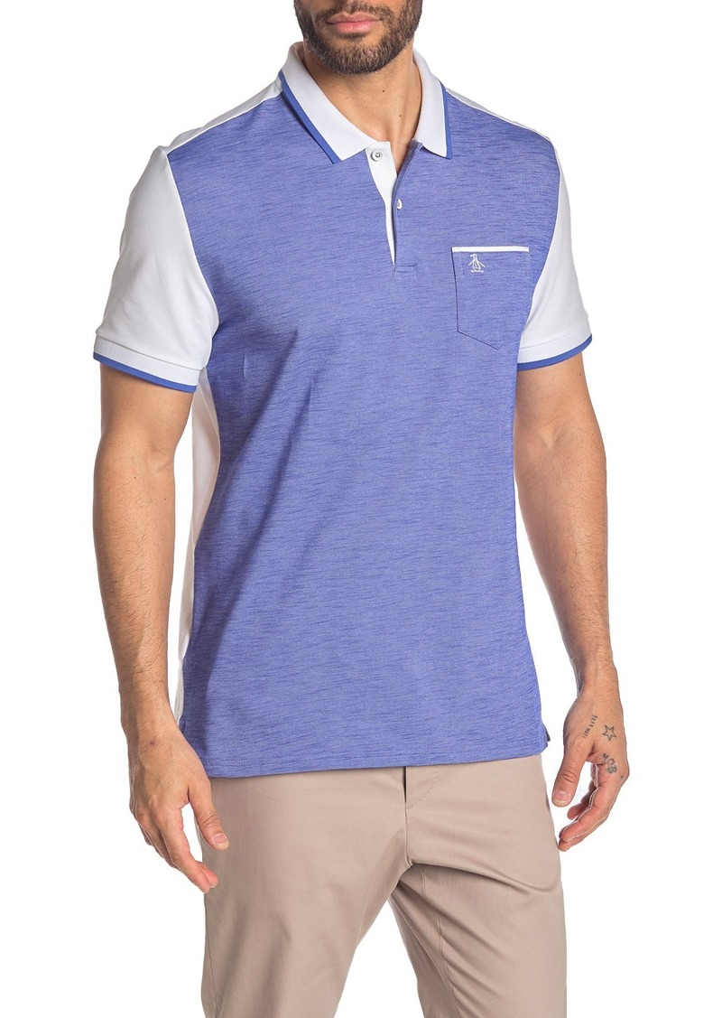 Original Penguin Short Sleeve Colorblock Polo