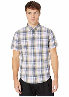 Original Penguin Short Sleeve Dobby Plaid Shirt