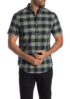 Original Penguin Short Sleeve End on End Plaid Shirt