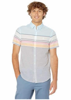 Original Penguin Short Sleeve Engineered Stripe Non-Stretch Shirt