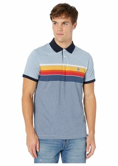 Original Penguin Short Sleeve Engineered Stripe Polo