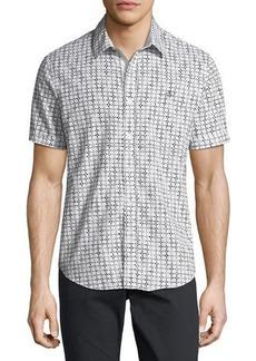 Original Penguin Short-Sleeve Floral Grid Sport Shirt