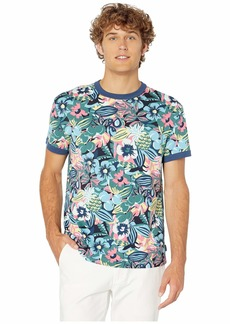 Original Penguin Short Sleeve Floral Print Ring T-Shirt