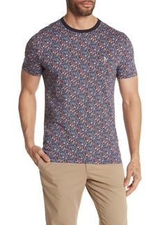 Original Penguin Short Sleeve Floral Print T-Shirt