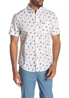 Original Penguin Short Sleeve Food Conversation Shirt